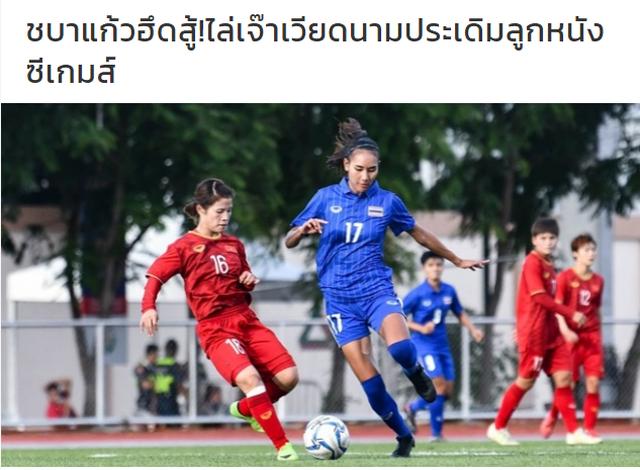 Báo Thái Lan thất vọng khi đội nhà hòa đội nữ Việt Nam - 1