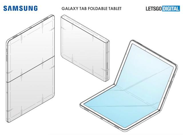 """Samsung tiếp tục """"chơi lớn"""" với máy tính bảng gập được - 2"""