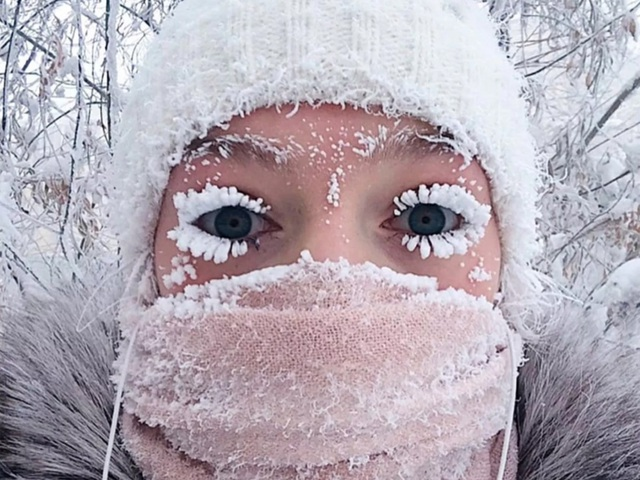 Thị trấn lạnh cóng -67 độ C đến mức lông mi phủ tuyết - 4