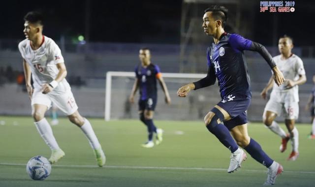 Thắng đậm Timor Leste, U22 Campuchia vươn lên đứng đầu bảng A - 1