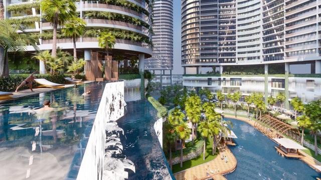 Dự án căn hộ resort tại Quận 7, TPHCM đào sông trong lòng dự án, phát triển 4.000 vườn nhiệt đới trên không - 2