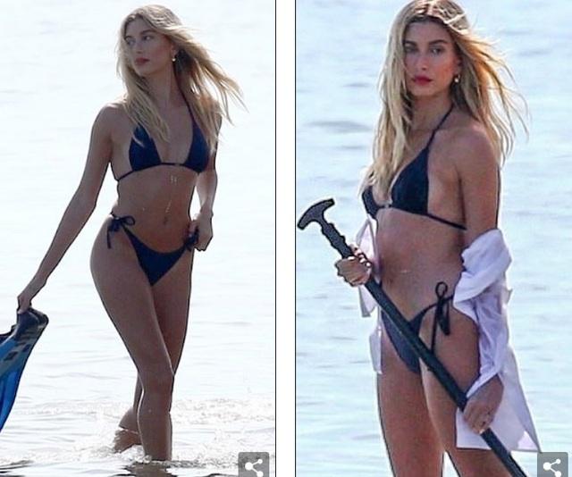 Vợ Justin Bieber diện áo tắm nuột nà trên biển - 2