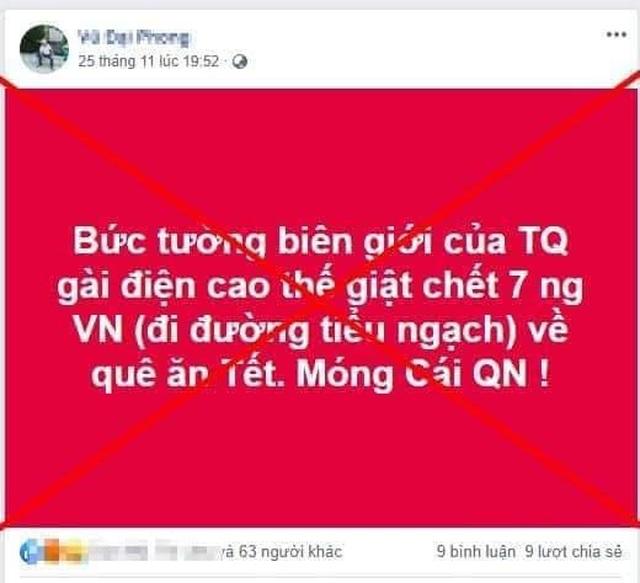 Bác bỏ tin đồn 7 người Việt Nam bị điện giật chết ở biên giới Trung Quốc - 1