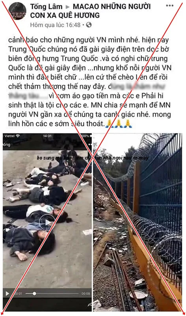 Bác bỏ tin đồn 7 người Việt Nam bị điện giật chết ở biên giới Trung Quốc - 2