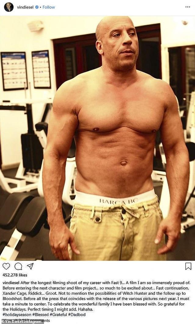 Vin Diesel đăng ảnh khoe cơ bắp ở tuổi 52 - 1
