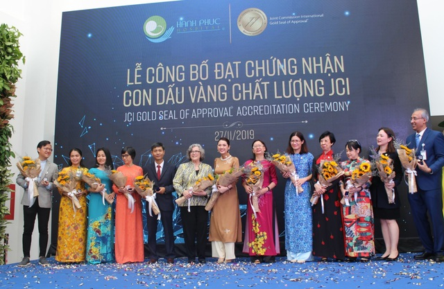 Bệnh viện sản - nhi đầu tiên tại Việt Nam đạt chứng nhận con dấu vàng chất lượng JCI - 2