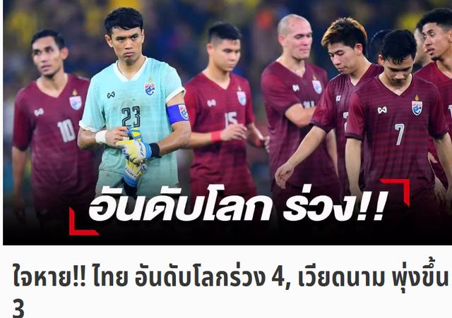 """Người Thái """"não nề"""" khi đội nhà tụt hạng, tuyển Việt Nam tăng hạng - 1"""