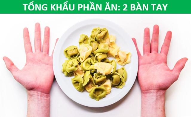 Mẹo hay: Xác định lượng thức ăn phù hợp với cơ thể chỉ bằng…bàn tay - 1