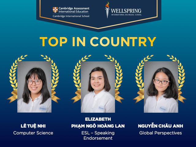 Ngưỡng mộ bảng thành tích của 3 học sinh đoạt giải cao nhất quốc gia kỳ thi IGCSE - 1