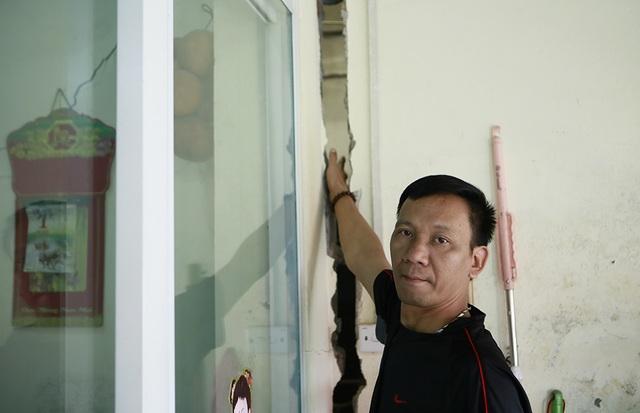 Thi công dự án cống hóa gây nứt nhà, người dân phải sơ tán - 2