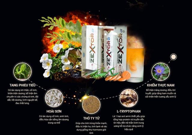 Viên sủi tăng cường sinh lý Zextor - Công dụng và cách sử dụng hiệu quả - 2