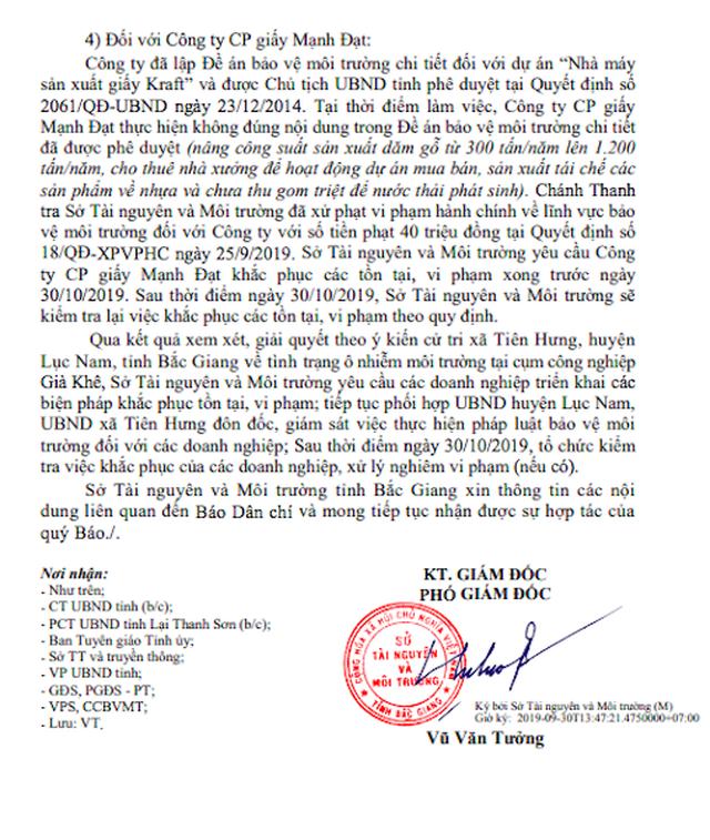"""Doanh nghiệp Trung Quốc gây ô nhiễm thoát án phạt """"ngoạn mục"""" tại Bắc Giang - 4"""