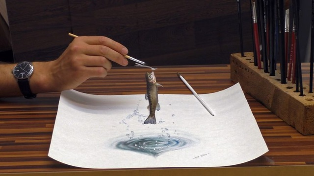 Choáng ngợp trước những bức vẽ 3D siêu chân thực - 10