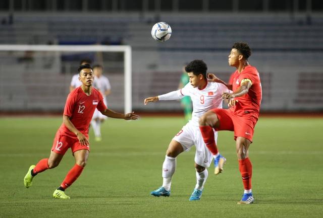 U22 Việt Nam 1-0 U22 Singapore: Đức Chinh ghi bàn quý giá - 19