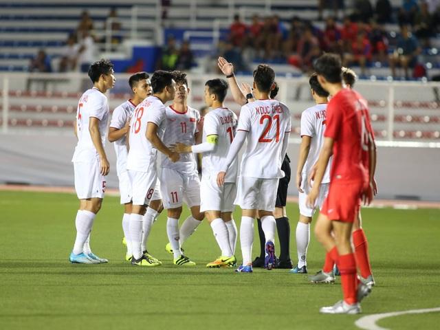 U22 Việt Nam 1-0 U22 Singapore: Đức Chinh ghi bàn quý giá - 9