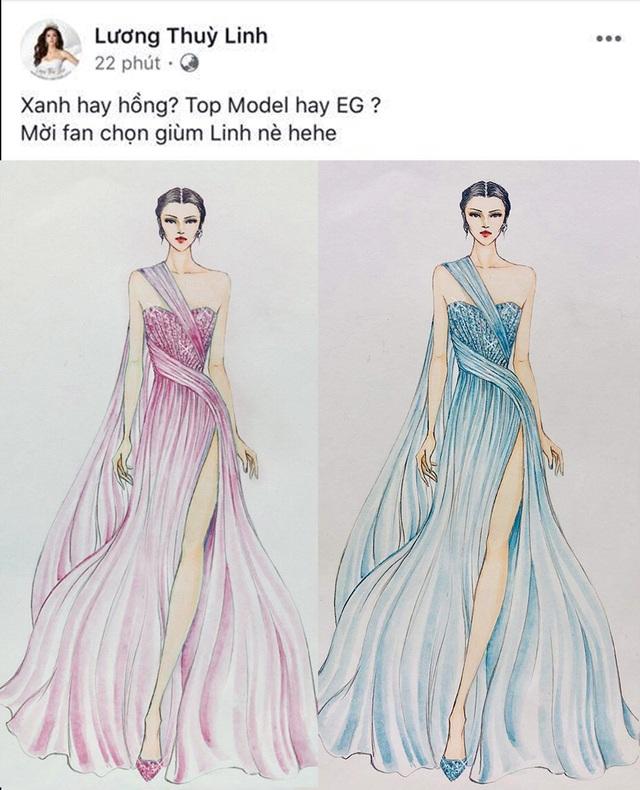Lương Thùy Linh bật mí chiếc váy sẽ mặc thi Top Model - 1