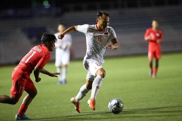 U22 Việt Nam 1-0 U22 Singapore: Đức Chinh ghi bàn quý giá - 7