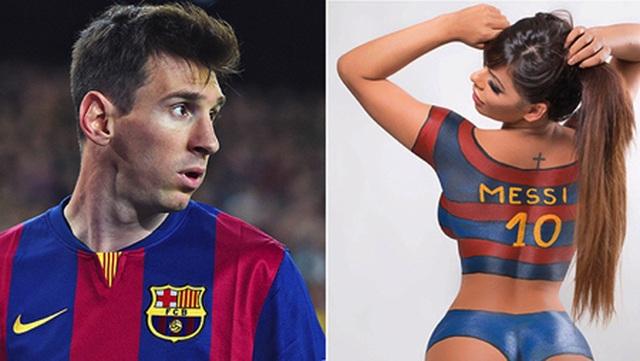 Người đẹp Brazil sơn mình nóng bỏng chúc mừng Messi giành Quả bóng vàng - 5