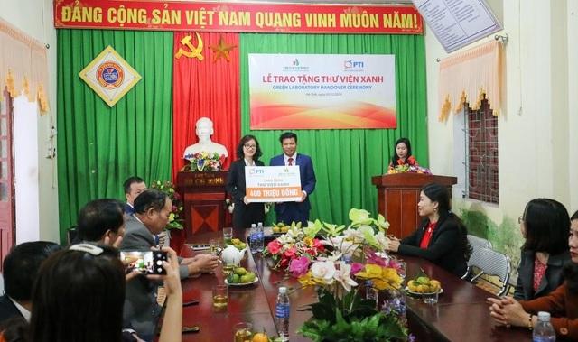 PTI trao tặng thư viện xanh cho trường Tiểu học Kỳ Lâm, Hà Tĩnh - 1