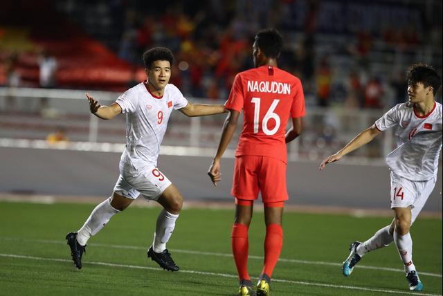 U22 Việt Nam 1-0 U22 Singapore: Đức Chinh ghi bàn quý giá - 4