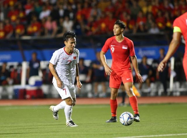 U22 Việt Nam 1-0 U22 Singapore: Đức Chinh ghi bàn quý giá - 6