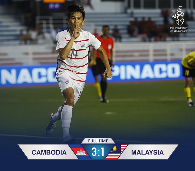 Báo Campuchia vui mừng khôn xiết sau kỳ tích của đội nhà tại SEA Games - 1