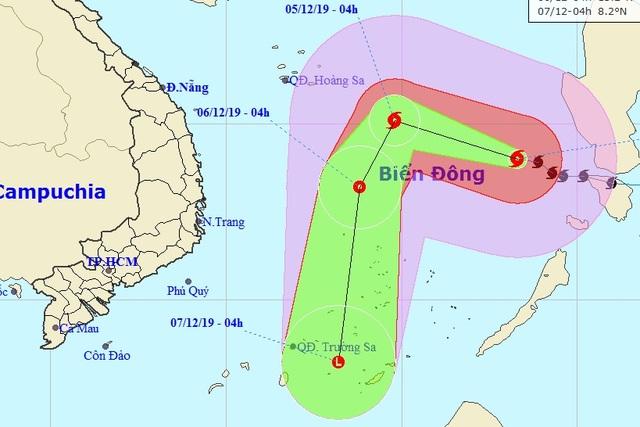 Bão số 7 giảm cấp, khả năng suy yếu ngay trên Biển Đông - 1
