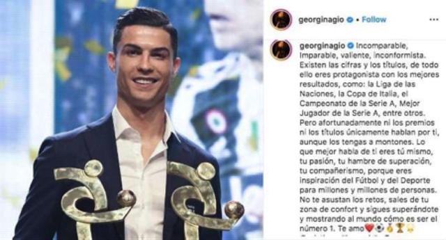 Thua Messi, C.Ronaldo vẫn được bạn gái xinh đẹp nịnh khéo - 1