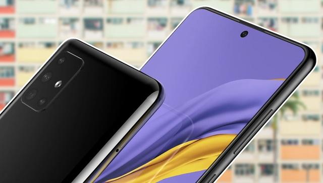 Rò rỉ hình ảnh Samsung Galaxy A51 với mặt trước giống Note 10 - 1