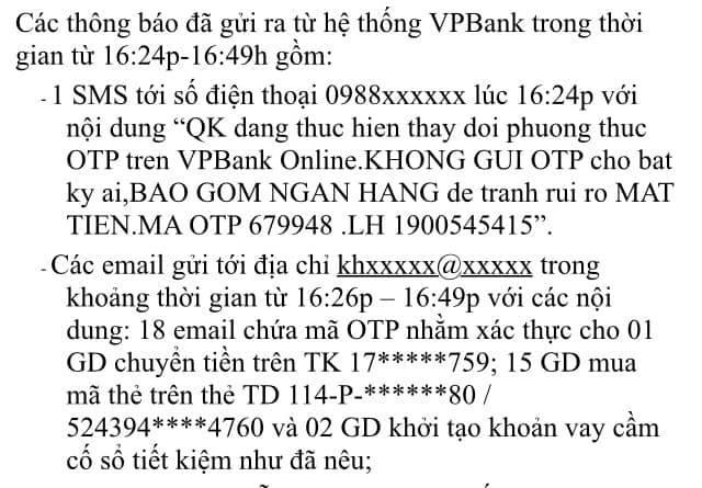 """Tò mò đăng nhập trang web và hơn 460 triệu đồng bị """"ngân hàng giả mạo VPBank lừa đảo - 1"""