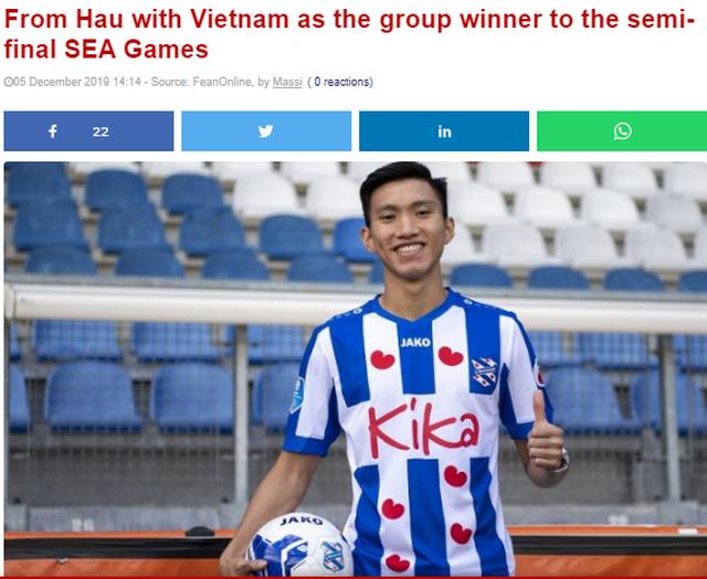 CLB Heerenveen chúc mừng Văn Hậu và U22 Việt Nam vào bán kết - 1