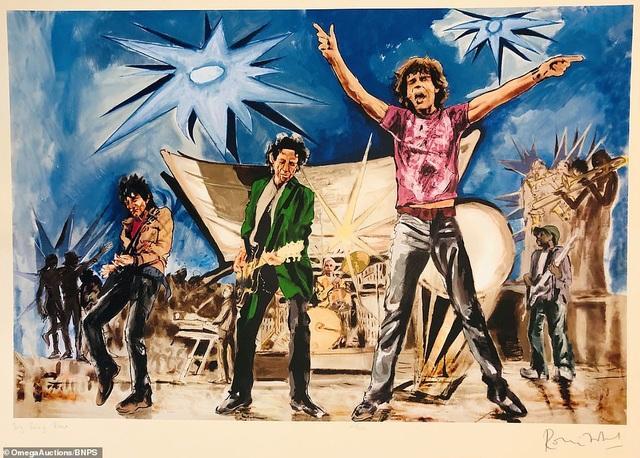 Sửng sốt trước tài năng hội họa của rocker nhóm Rolling Stones - 1