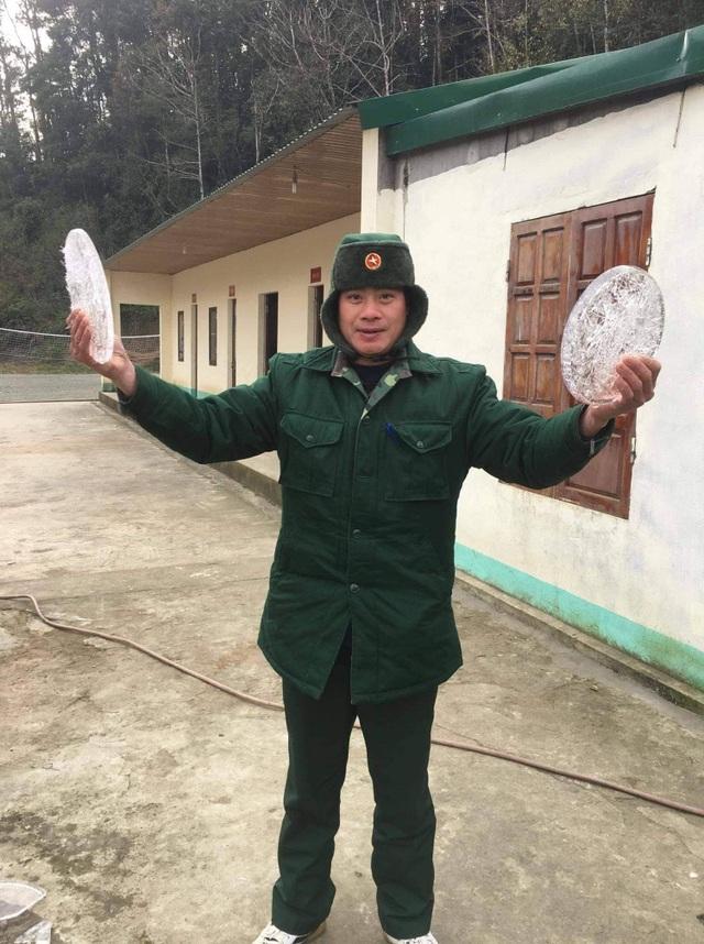 Băng giá xuất hiện tại miền núi Nghệ An - 1
