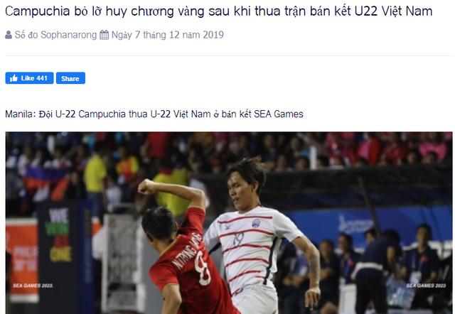 Báo Campuchia tiếc vì đội nhà... lỡ huy chương vàng - 1