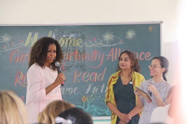 Bà Michelle Obama nhắn gửi nữ sinh Việt: Hãy theo đuổi ước mơ thông qua giáo dục - 8