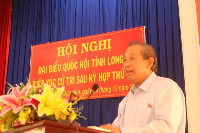 Cử tri Long An kiến nghị nhiều vụ việc nóng với Phó Thủ tướng Trương Hòa Bình - 1