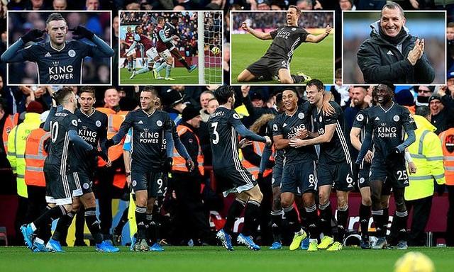 """Leicester thắng đậm """"4 sao"""", bám đuổi Liverpool trong cuộc đua vô địch - 1"""