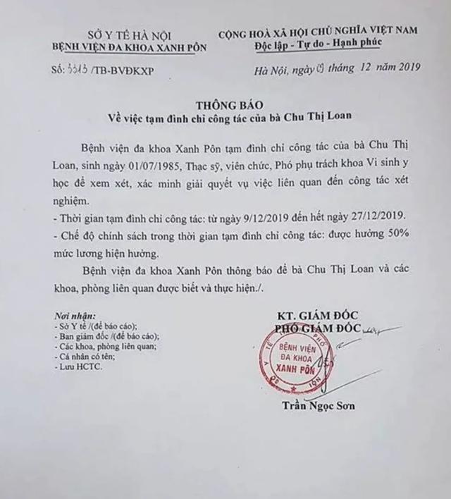 Giám đốc Bệnh viện Xanh Pôn lên tiếng về nghi vấn gian lận xét nghiệm HIV, viêm gan B tại bệnh viện - 1