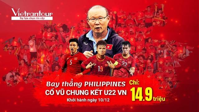 Vietrantour: Cháy tour Manila rinh cúp vàng Sea Games cùng Tuyển Việt Nam - 1