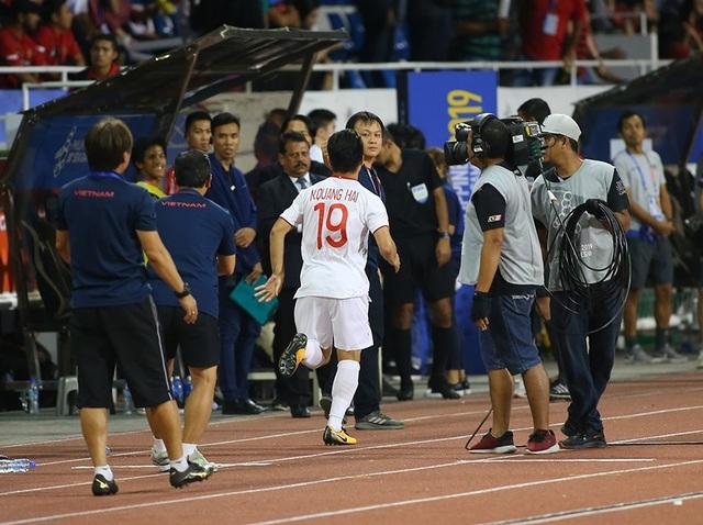 Quang Hải tiếc nuối vì hụt cơ hội ra sân phút cuối trước U22 Indonesia - 2