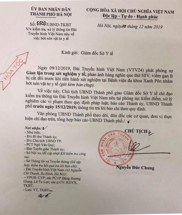 Chủ tịch UBND TP Hà Nội yêu cầu xử lý nghiêm vụ cắt đôi test thử HIV, viêm gan B - 1