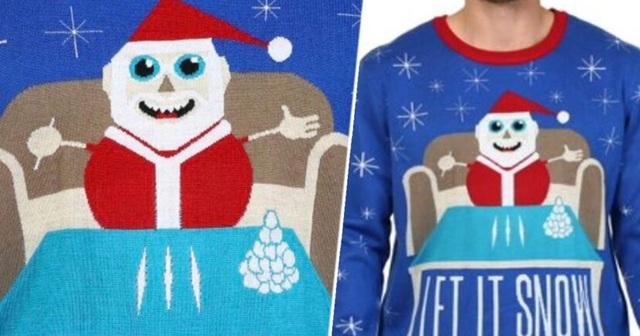 Walmart lên tiếng xin lỗi vì áo len có hình ông già Noel đang sử dụng ma túy - 1