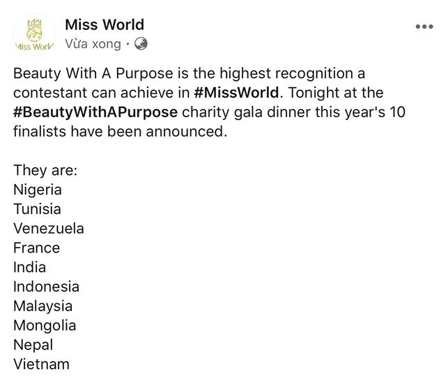 Dự án nhân ái của Lương Thùy Linh lọt danh sách 10 dự án hay nhất Hoa hậu Thế giới 2019 - 2