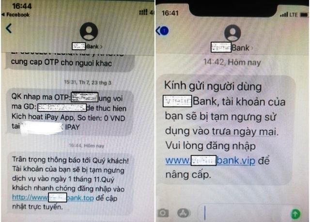 Bộ Công an cảnh báo thủ đoạn giả danh tin nhắn của ngân hàng để lừa đảo - 1