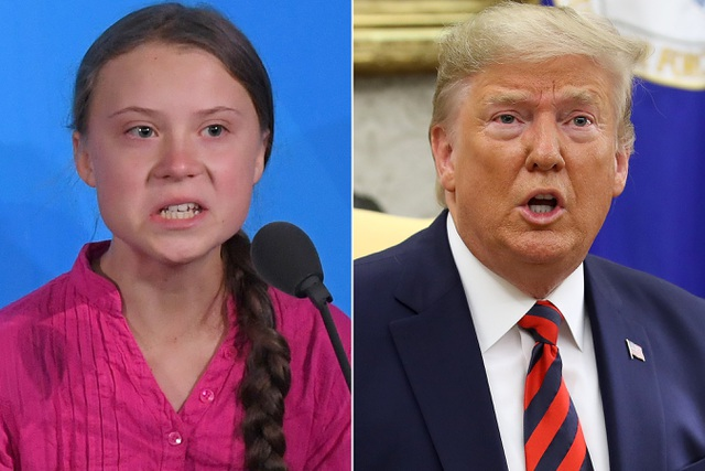 Ông Trump mỉa mai cô bé Greta Thunberg được chọn là Nhân vật của năm - 1