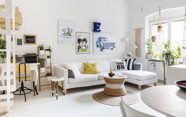 """""""Ăn gian"""" diện tích cho phòng khách từ 10 ý tưởng đơn giản không ngờ - 1"""