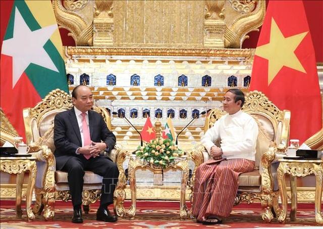 Thủ tướng Chính phủ Nguyễn Xuân Phúc hội kiến Tổng thống Myanmar - 1