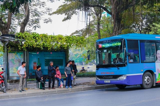 """Người Hà Nội thích thú với những """"khu vườn treo"""" ấn tượng trên nóc trạm chờ xe buýt - 4"""