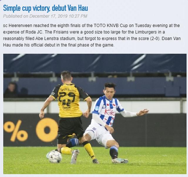Báo Hà Lan nói gì về màn ra mắt của Văn Hậu ở Heerenveen? - 2