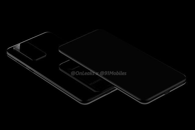 Lộ ảnh thiết kế Huawei P40 Pro với màn hình cong 4 cạnh, cụm camera chữ nhật - 3